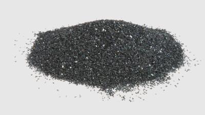 Foto Carburo di silicio nero macro